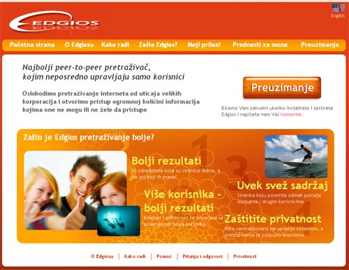 edgios.com p2p search engine
