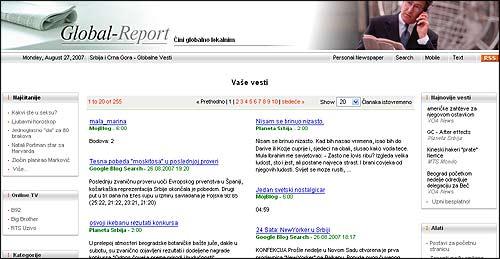 Moje vesti - blog agregator na sajtu global-report.com
