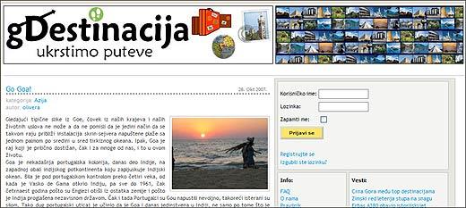 Gdestinacija.com blog
