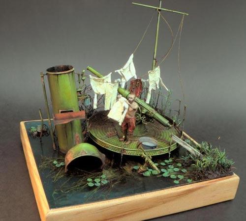 Sokol diorama