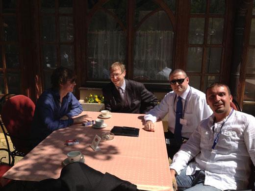 E-trgovina - (s leva na desno) Ilija Sergjenko (TheCity), DV, Pavle Basic (Tandem Financial), Sasa Marceta (MaxBet)