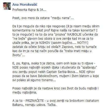 Reakcija sa FB na temu odlaska iz Srbije