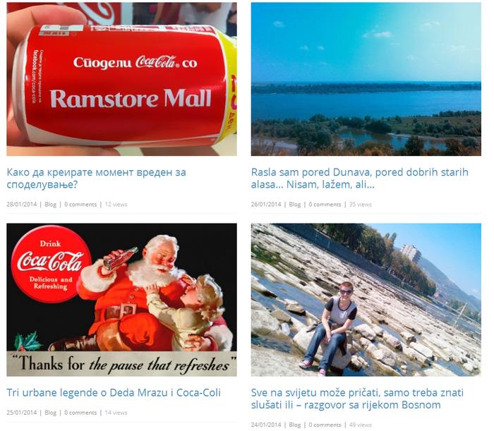 blog postovi u sklopu akcije Coca-Cola Bloggers Network Adria