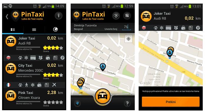 pintaxi narucivanje taxi vozila